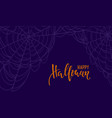 halloween spiderweb background happy halloween vector image