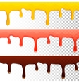 honey jam chocolate seamless transparent drips vector image
