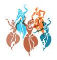 indian dancers vector image