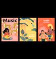 jungle sounds set banners vector image