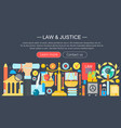 law and justice design concept with justice icons