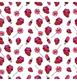 Lips Candies and Ice Cream Seamless Pattern vector image vector image