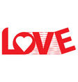 love 001 vector image