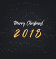 merry christmas happy 2018 new year vector image