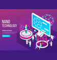 nanotechnology isometric composition vector image