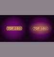 neon banner of top 5 the best vector image vector image