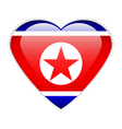 North Korea flag button vector image