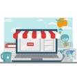 Online shopping background vector image vector image