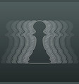 outline chess pawns vector image vector image