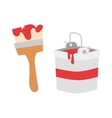 Paint brush icon flat vector image vector image