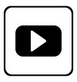 play button on white vector image vector image
