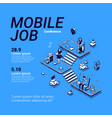 poster mobile job conference vector image vector image