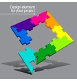 Puzzle element for your project vector image