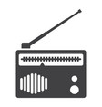radio solid icon fm and communication vector image vector image