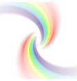 rainbow icon realistic isolated white background vector image vector image