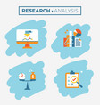 research and analysis icon vector image vector image
