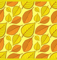 seamless pattern with beech and linden leaves vector image