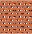 Seamless pattern with hand evil eye