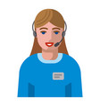 service support operator icon vector image vector image
