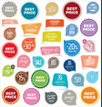 set of badges and stickers 2 vector image vector image
