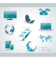 Set of web Icons and business and abstract symbols vector image vector image