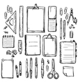 set stationery drawings vector image