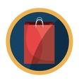 shopping bag paper icon vector image vector image