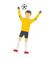 team goalkeeper icon flat style vector image vector image