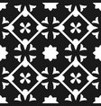 tile black and white decorative floor tile pattern vector image vector image