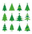 tree merry christmas icon isolated vector image vector image