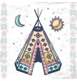 Tribal native American set of symbols vector image vector image