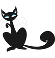 vintage style cat black cat signiconsymbol vector image