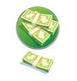 one dollar stack vector image