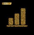 statistics gold icon vector image