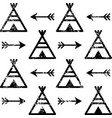 teepee and arrows seamless pattern aztec vector image