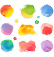 Watercolor painting icon set vector image
