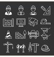 Architecture Construction Building icon set vector image