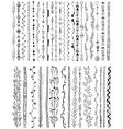 Hand drawn line border set vector image