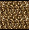 wheat rye field seamless pattern vector image