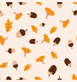 pattern with autumn elements vector image