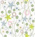 abstract flowers a seamless pattern wallpaper vector image vector image