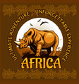 african landscape and rhino - poster vector image vector image