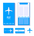 airplane corporate identity vector image vector image