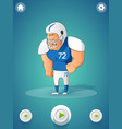 american football player concept vector image