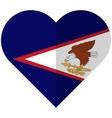 American Samoa flat heart flag vector image