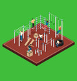 athletic field isometric vector image vector image