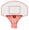 Basketball basket vector image vector image