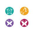beauty butterfly logo template icon design vector image vector image