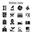 biology icon set vector image vector image