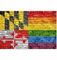 brick wall maryland and gay flags vector image vector image
